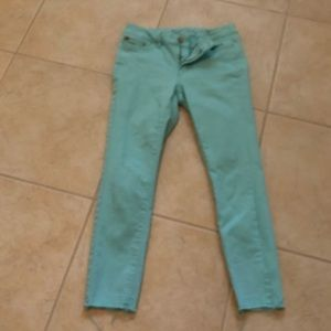 WHBM teal ankle pants size 4
